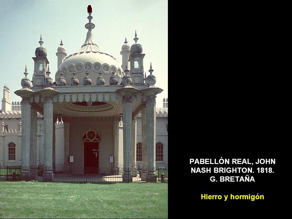 LA ARQUITECTURA EN HIERRO El Crystal Palace fue diseñado por JOSEPH PAXTON como sede de la Exposición Universal de Londres de 1851, la primera de las muchas ferias mundiales consagradas a mostrar el esplendor del progreso industrial.