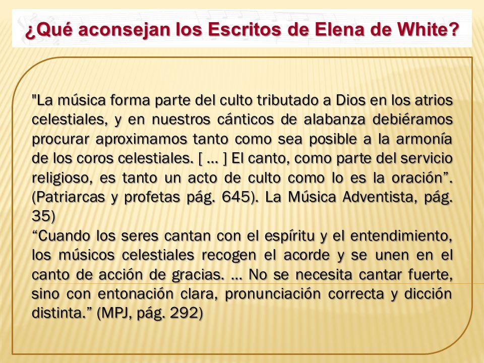 ¿Qué aconsejan los Escritos de Elena de White?