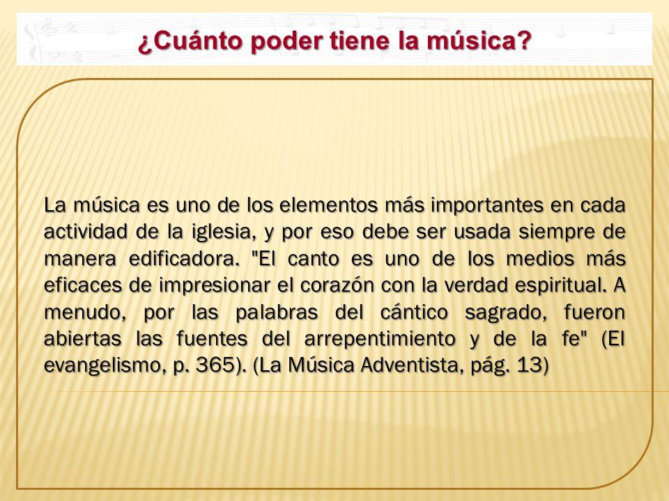 ¿Cuánto poder tiene la música? La música es uno de los elementos más importantes en cada actividad de la iglesia, y por eso debe ser usada siempre de