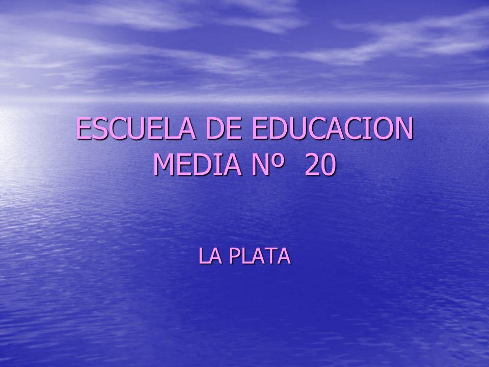 ESCUELA DE EDUCACION MEDIA Nº 20 LA PLATA