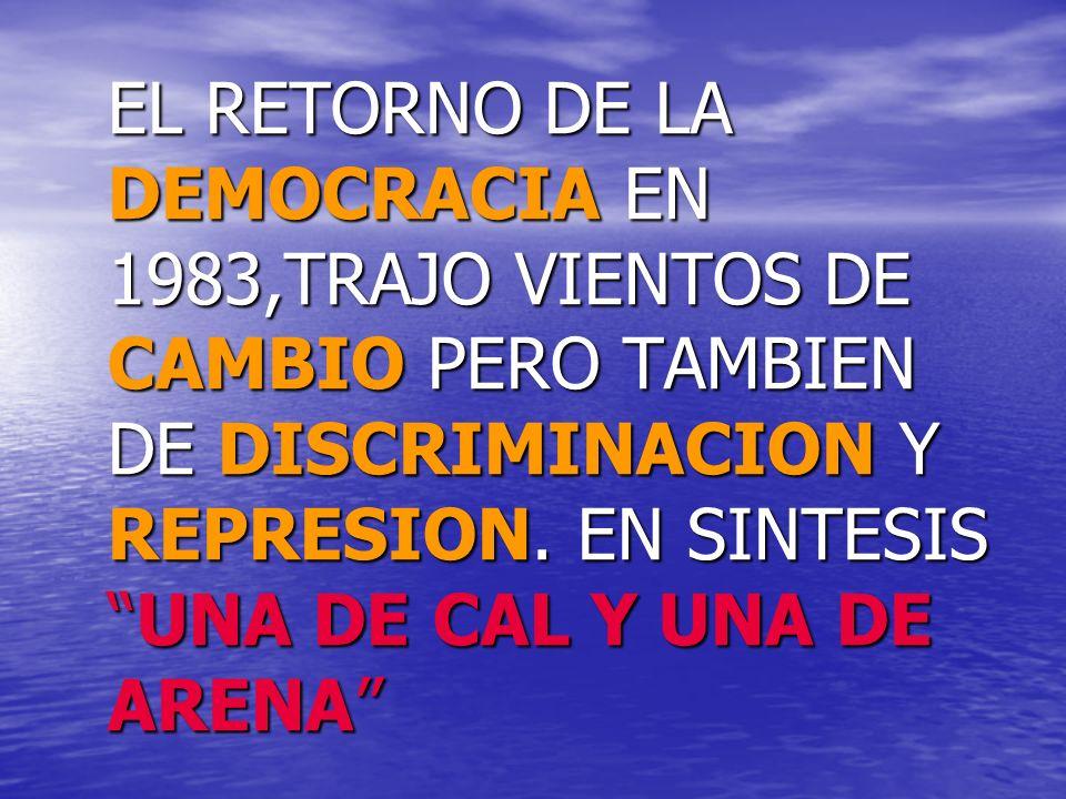 VOLVIO LA DEMOCRACIA!!!!!!