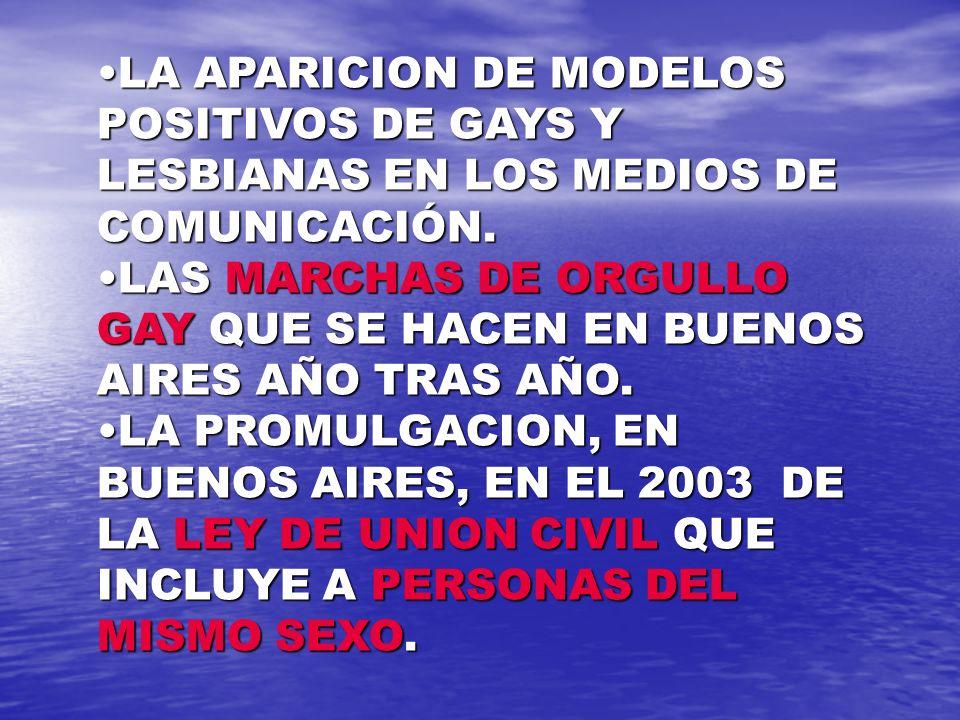 LAS DE ARENA LAS DE ARENA LA APARICION DE INSTITUCIONES EN DEFENSA DE LOS DERECHOS HUMANOS DE LOS HOMOSEXUALES COMO LA COMUNIDAD HOMOSEXUAL ARGENTINA