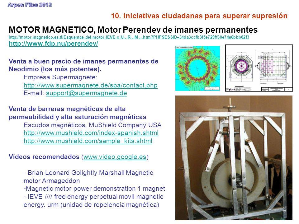 10. Iniciativas ciudadanas para superar supresión MOTOR MAGNETICO, Motor Perendev de imanes permanentes http://motor-magnetico.es.tl/Esquemas-del-moto