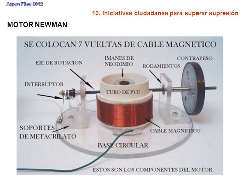10. Iniciativas ciudadanas para superar supresión MOTOR NEWMAN