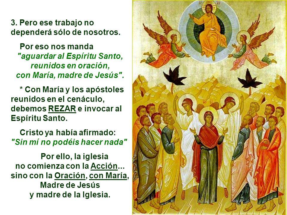 2. La Ascensión nos recuerda que somos ENVIADOS de Cristo para continuar y completar su obra... No podemos quedar parados, mirando al cielo... Debemos