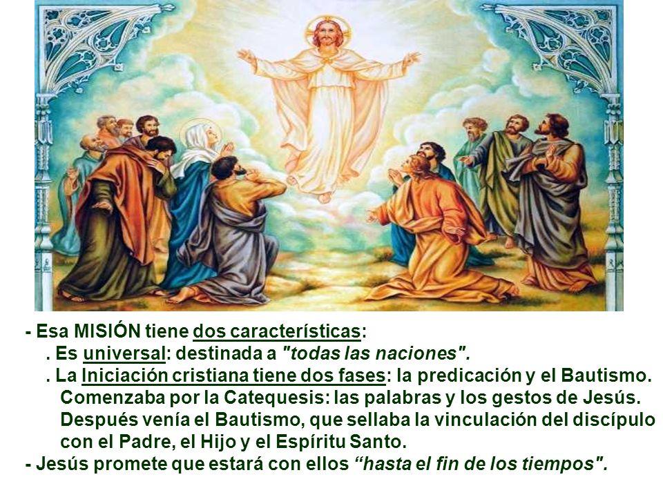 El Evangelio narra la Aparición Pascual de Jesús en GALILEA. Refiere la Presentación de Jesús: Se me ha dado pleno PODER...; La Misión: