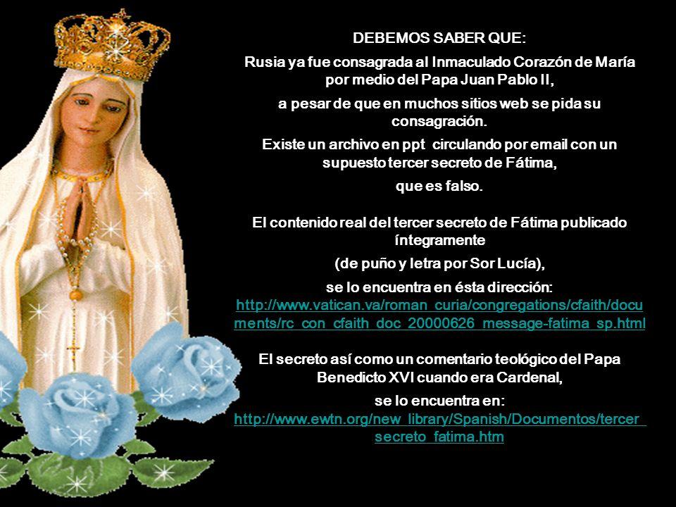 Un tiempo antes de que la Virgen María se apareciera a los niños, un ángel se les manifestó por tres veces, la primera aparición les dijo: No teman.