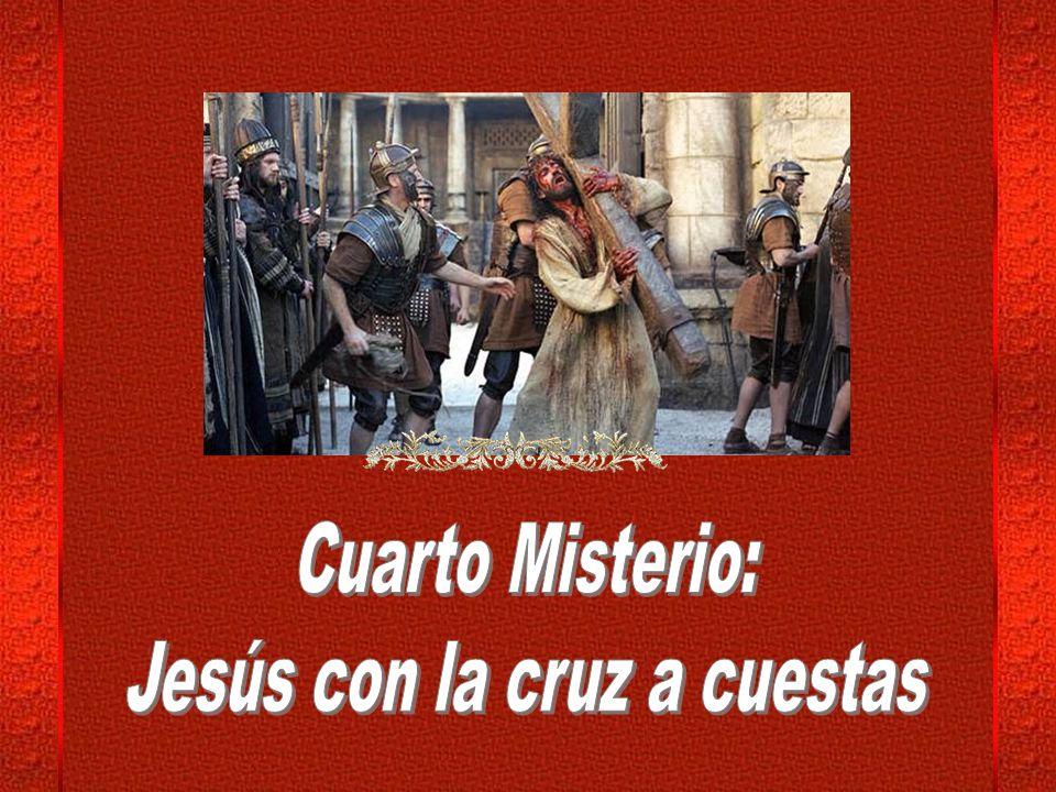 Entre insultos soeces, los soldados despegan a Jesús de sus vestidos arrastrando los restos adheridos, reabriendo los surcos coagulados.