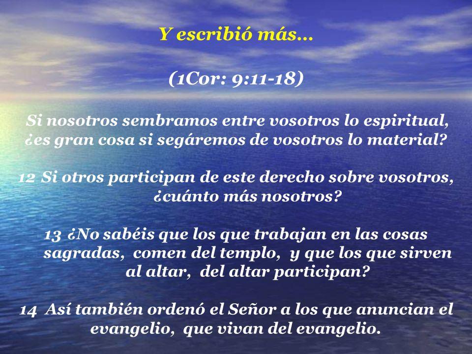 ¡Orden del Señor a los que anunciamos el evangelio.