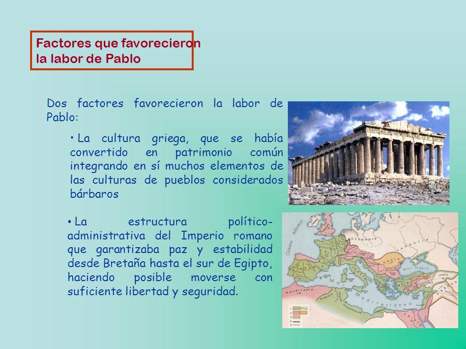 San Pablo procede de una cultura muy precisa: la del pueblo de Israel y su tradición. Los judíos representaban el 10% de la población total del Imperi