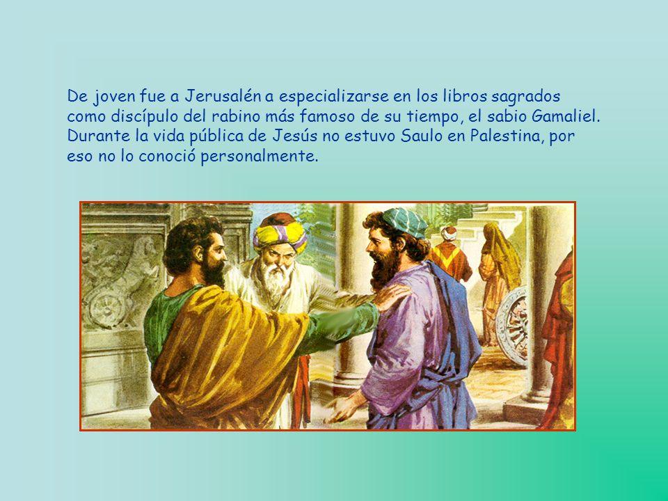 De joven fue a Jerusalén a especializarse en los libros sagrados como discípulo del rabino más famoso de su tiempo, el sabio Gamaliel.