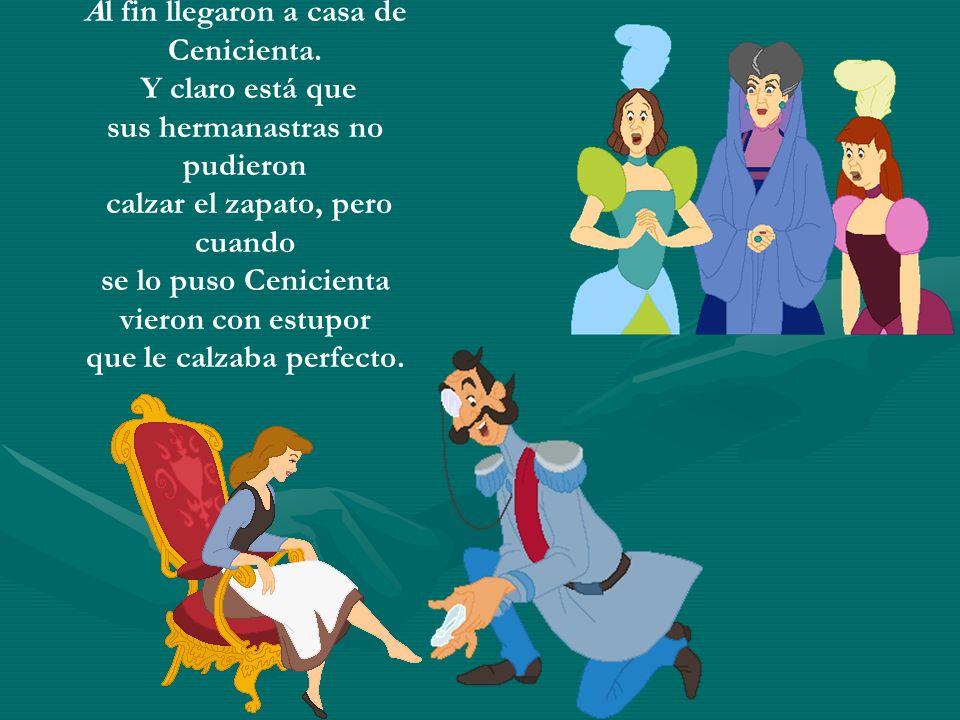 Para encontrar a la bella joven, el Rey ideó un plan. Se casaría con aquella que pudiera calzarse el zapato. Envió a sus heraldos a recorrer todo el R