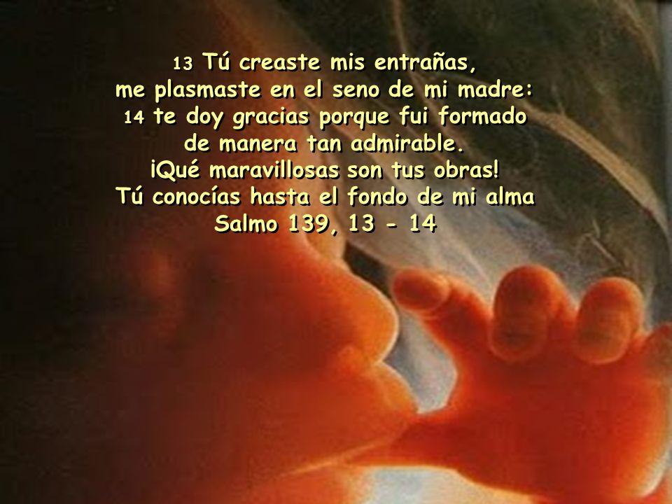 Antes de formarte en el vientre materno, yo te conocía; antes de que salieras del seno, yo te había consagrado, te había constituido profeta para las naciones .