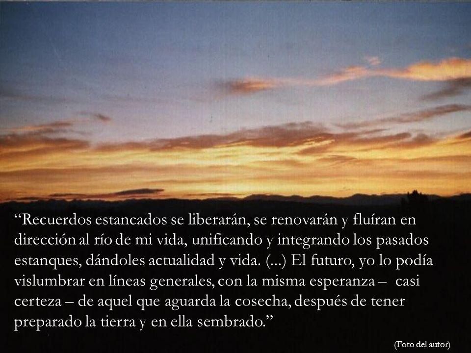 Recuerdos estancados se liberarán, se renovarán y fluíran en dirección al río de mi vida, unificando y integrando los pasados estanques, dándoles actualidad y vida.