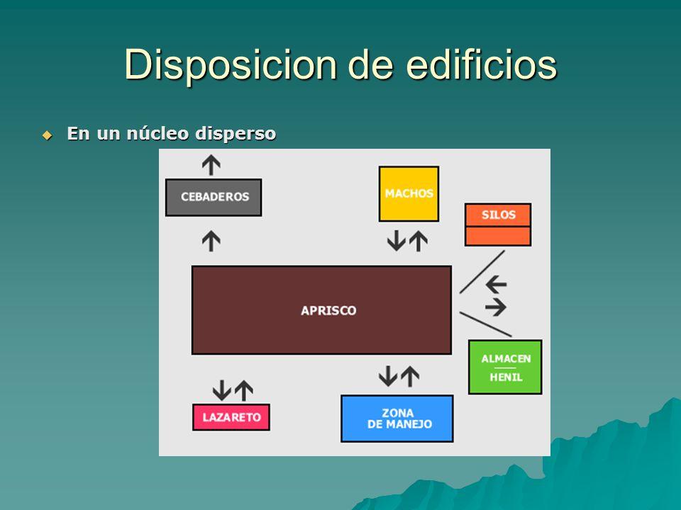 Disposicion de edificios En un núcleo disperso En un núcleo disperso