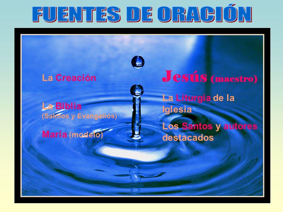 La Creación La Biblia (Salmos y Evangelios) María (modelo) Jesús (maestro) La Liturgia de la Iglesia Los Santos y autores destacados