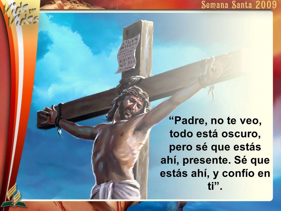 Padre, no te veo, todo está oscuro, pero sé que estás ahí, presente. Sé que estás ahí, y confío en ti.