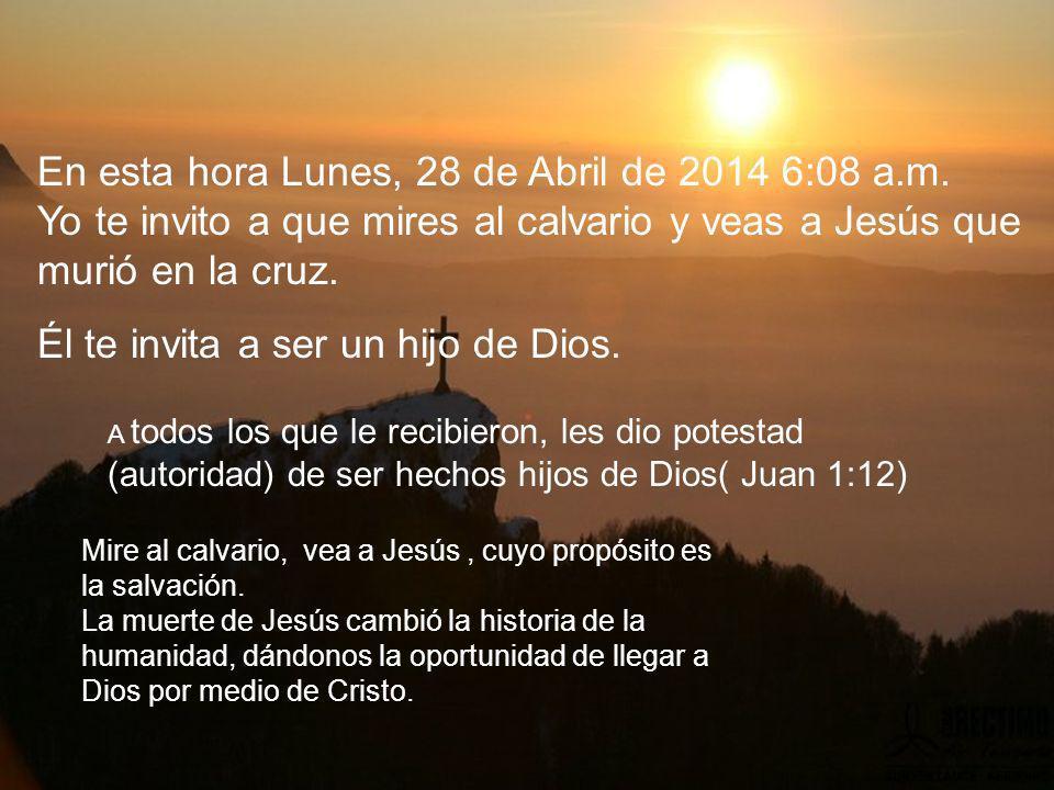 En esta hora Lunes, 28 de Abril de 2014 6:10 a.m.