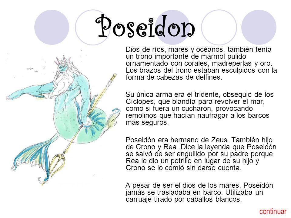 Poseidon Poseidón tenía un palacio privado bajo el mar, cerca de Paxos.