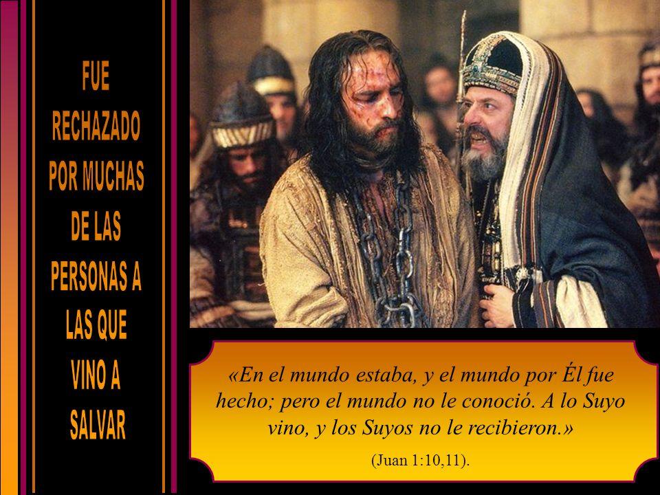 «En el mundo estaba, y el mundo por Él fue hecho; pero el mundo no le conoció.