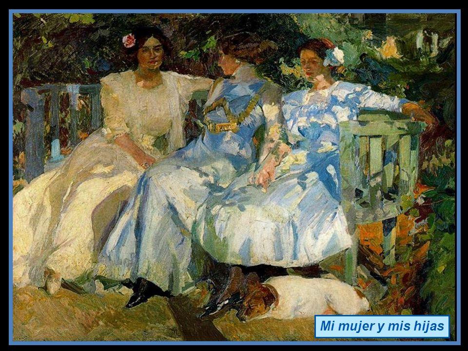 Joaquín Sorolla, pintor impresionista español, valenciano. Cosa que se refleja en todos sus cuadros. Fue un impresionista tardío, ya que nació en plen