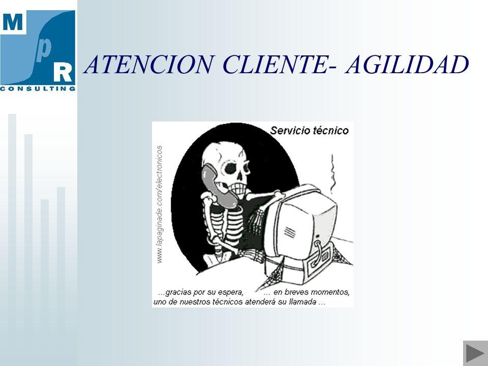 ATENCION CLIENTE- AGILIDAD