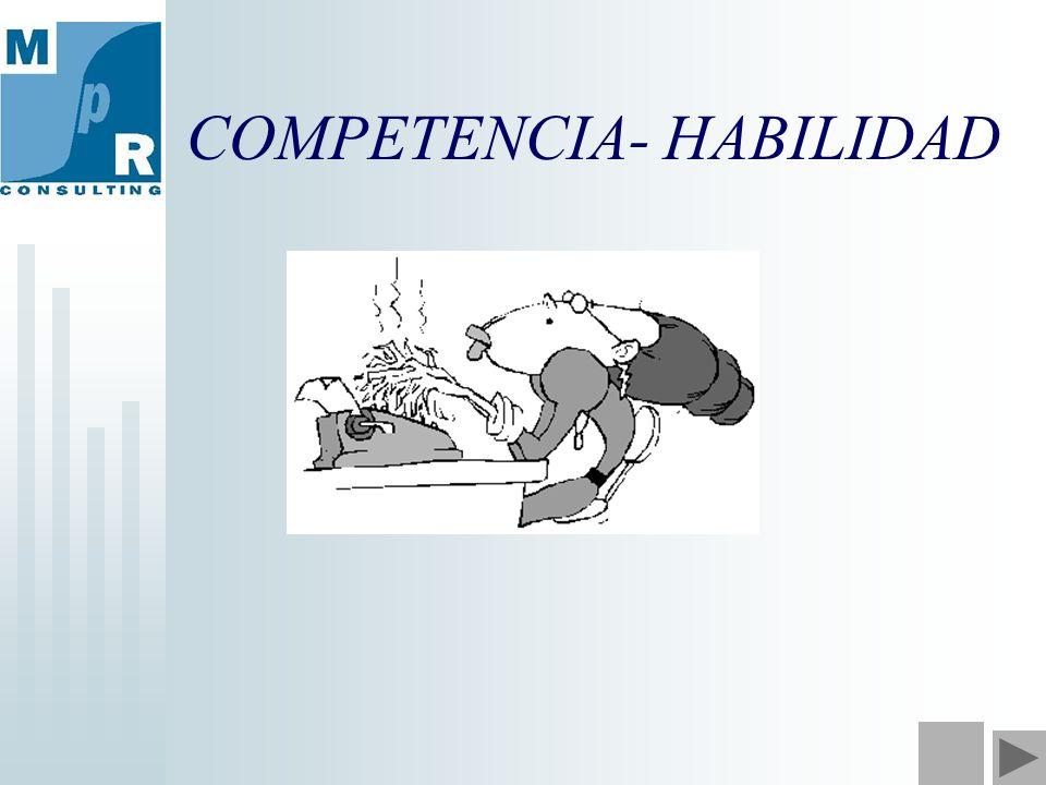 COMPETENCIA- HABILIDAD