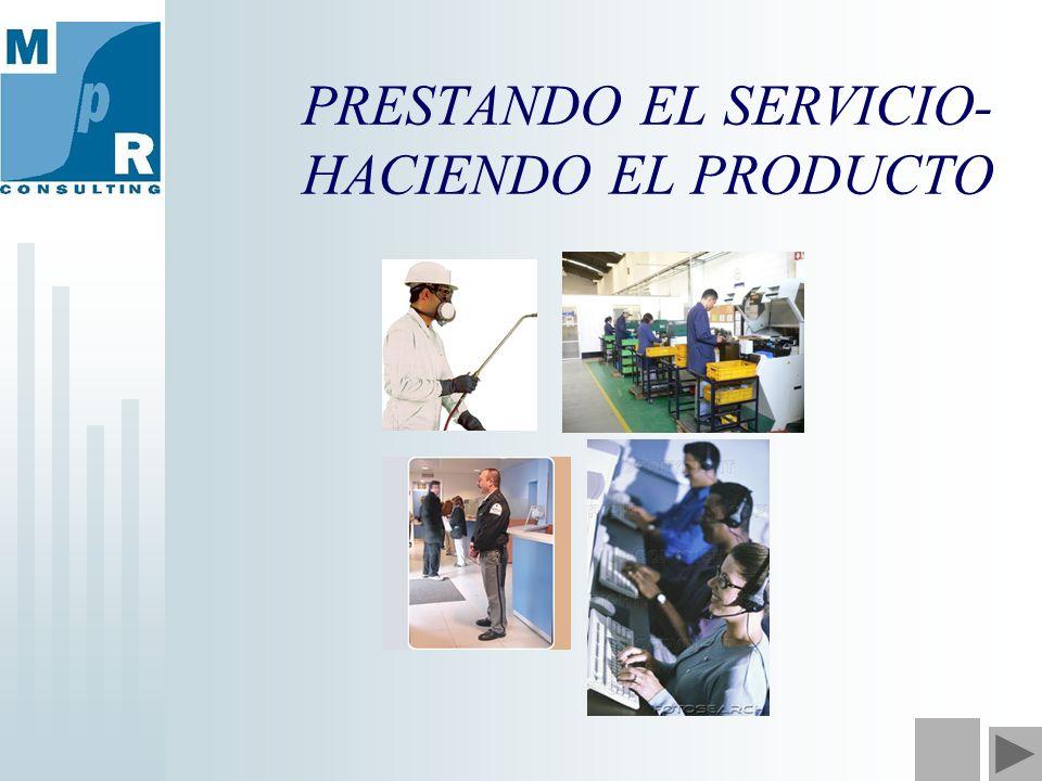PRESTANDO EL SERVICIO- HACIENDO EL PRODUCTO