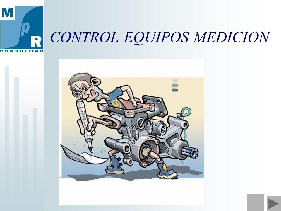 CONTROL EQUIPOS MEDICION