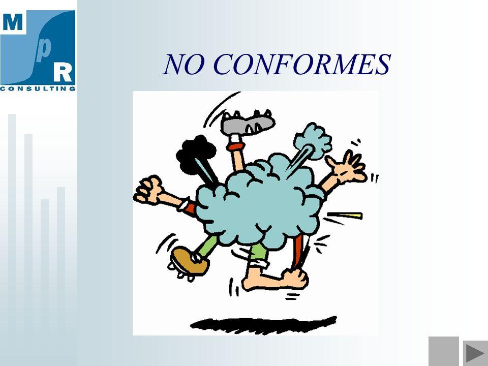 NO CONFORMES