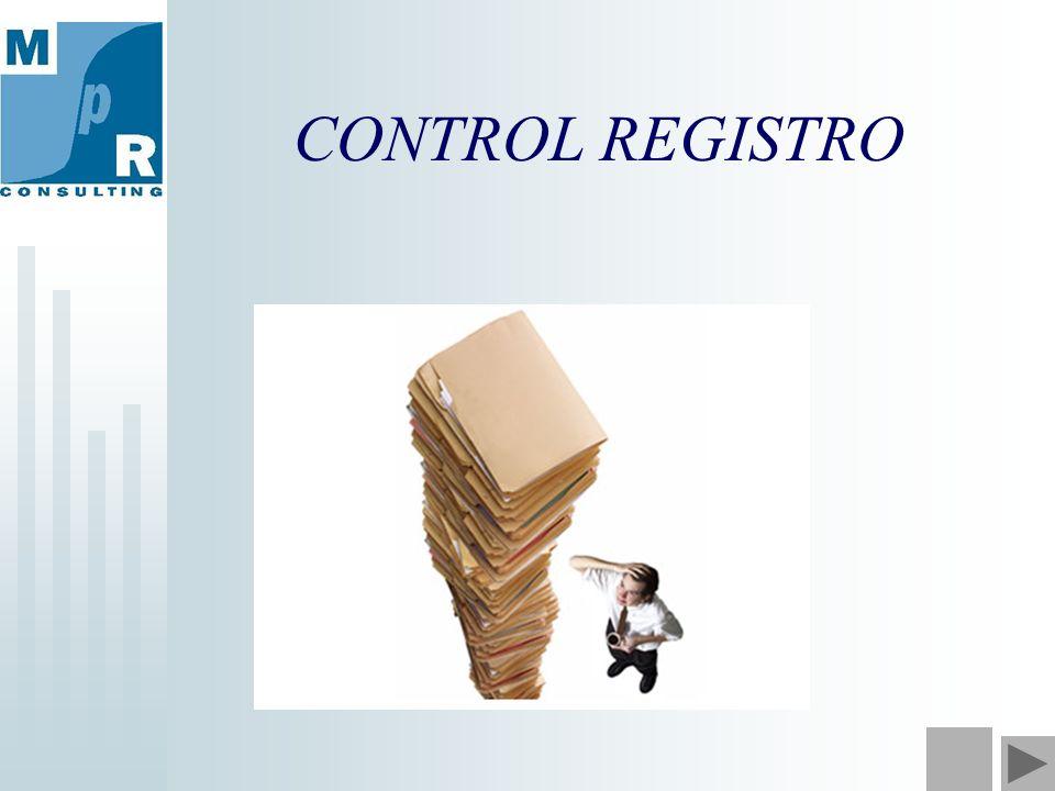 CONTROL REGISTRO