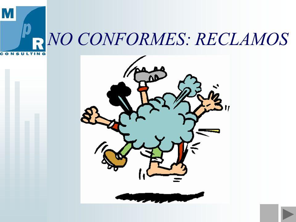 NO CONFORMES: RECLAMOS