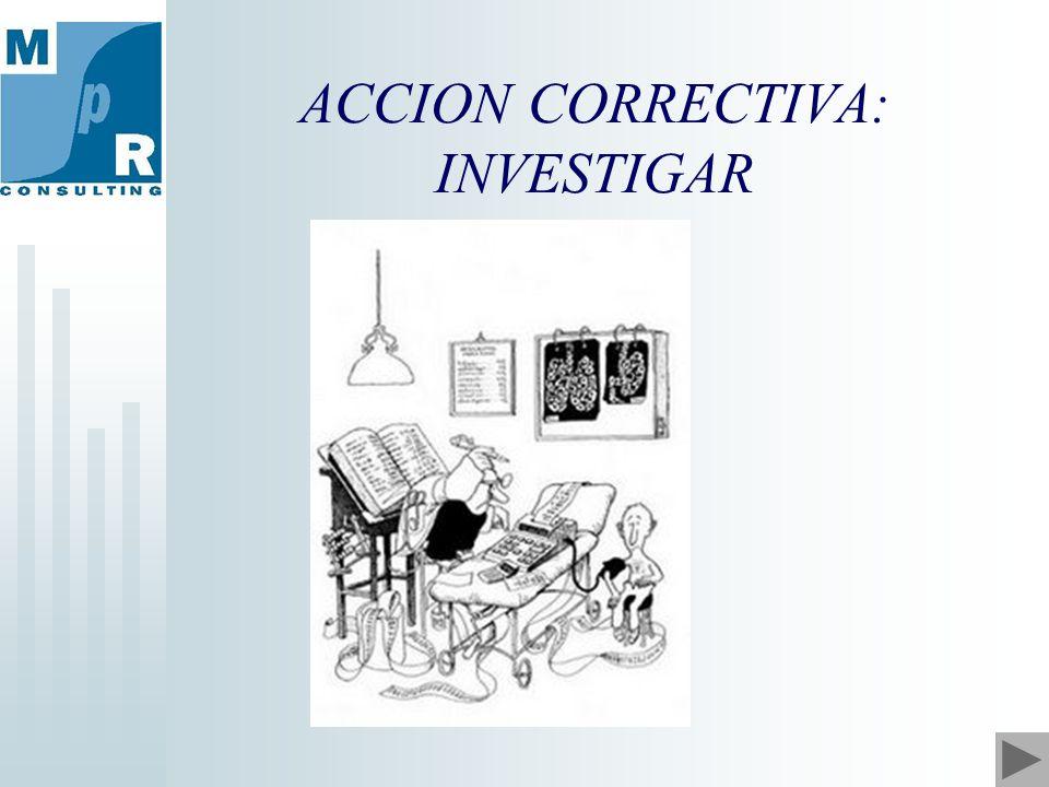 ACCION CORRECTIVA: INVESTIGAR