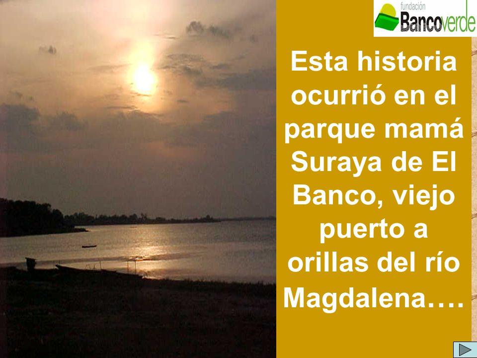 Esta historia ocurrió en el parque mamá Suraya de El Banco, viejo puerto a orillas del río Magdalena ….