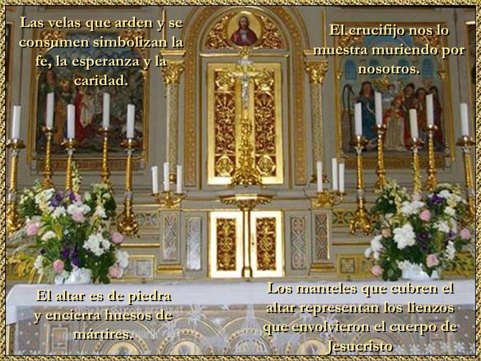 Haga clic para cambiar el estilo de título Haga clic para modificar el estilo de texto del patrón Segundo nivel Tercer nivel Cuarto nivel Quinto nivel 4 El altar es de piedra y encierra huesos de mártires.