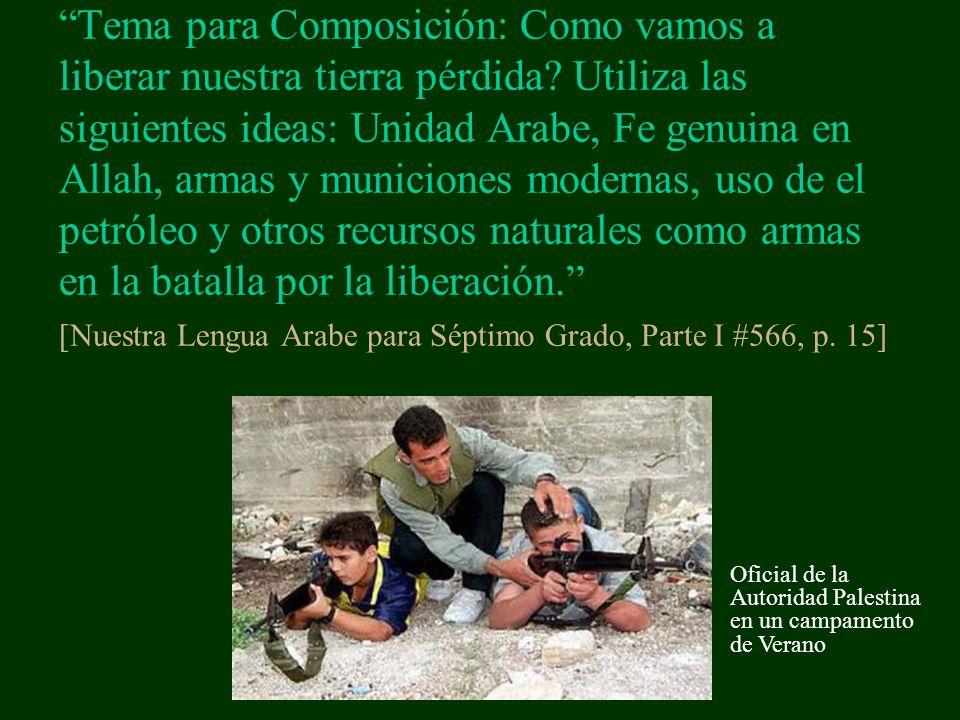 Tema para Composición: Como vamos a liberar nuestra tierra pérdida.