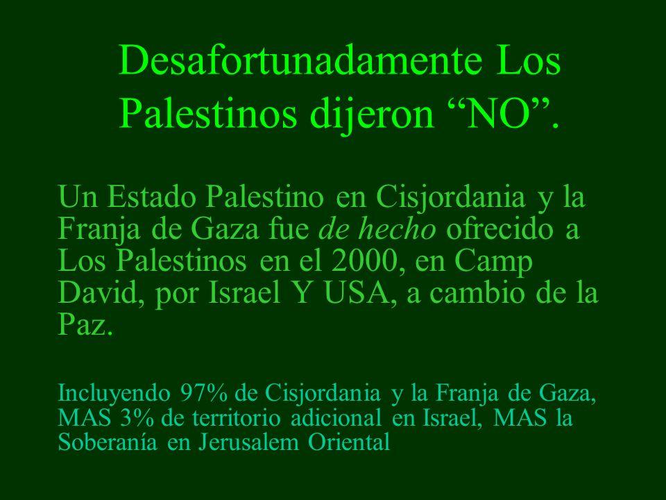 Ellos prefirieron comenzar la Intifada.