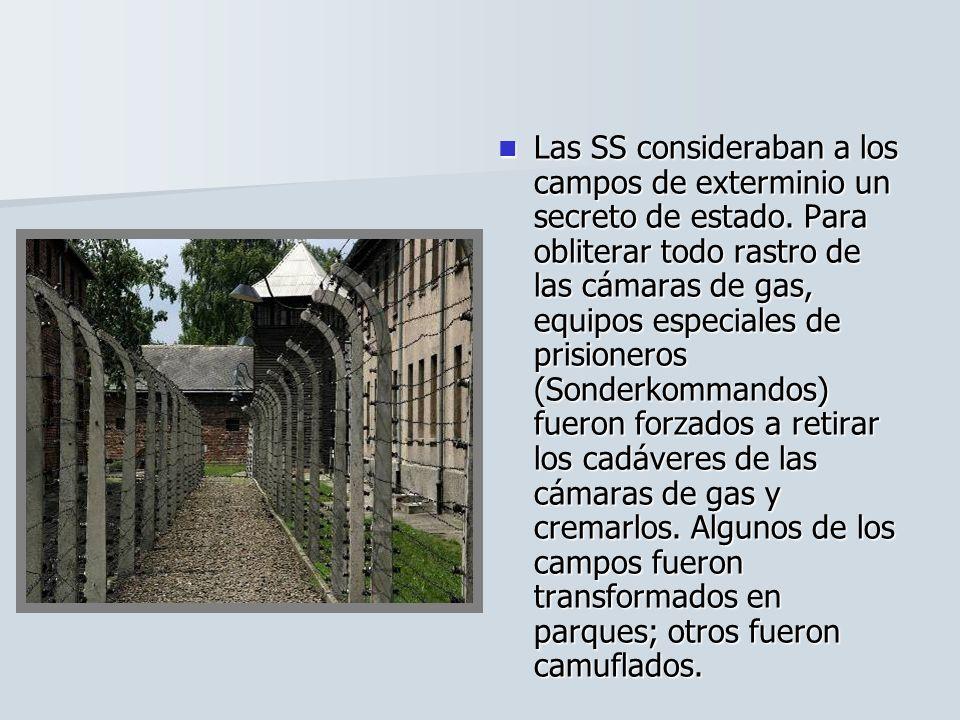 Las SS consideraban a los campos de exterminio un secreto de estado. Para obliterar todo rastro de las cámaras de gas, equipos especiales de prisioner