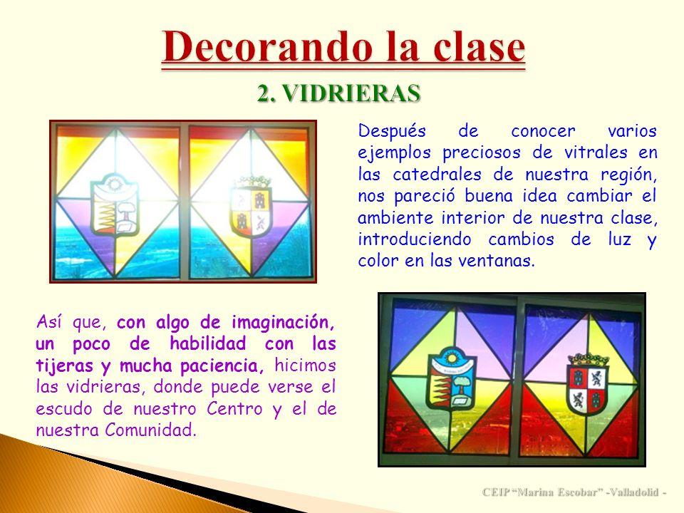 Después de conocer varios ejemplos preciosos de vitrales en las catedrales de nuestra región, nos pareció buena idea cambiar el ambiente interior de n