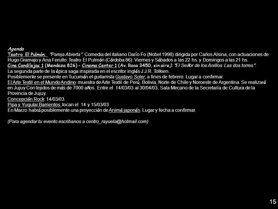 Agenda Teatro El Pulmón : Pareja Abierta. Comedia del italiano Dar í o Fo (Nobel 1998) dirigida por Carlos Alsina, con actuaciones de Hugo Gramajo y A