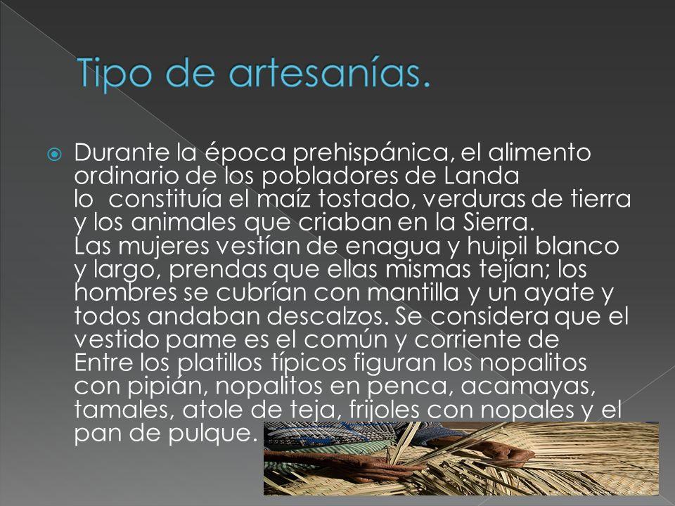 Lenguas Indígenas OTOMI y NAHUATL.127 personas en Landa de Matamoros viven en hogares indígenas.