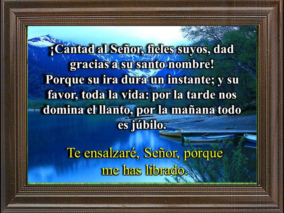 Salmo 29 Te ensalzaré, Señor, porque me has librado.
