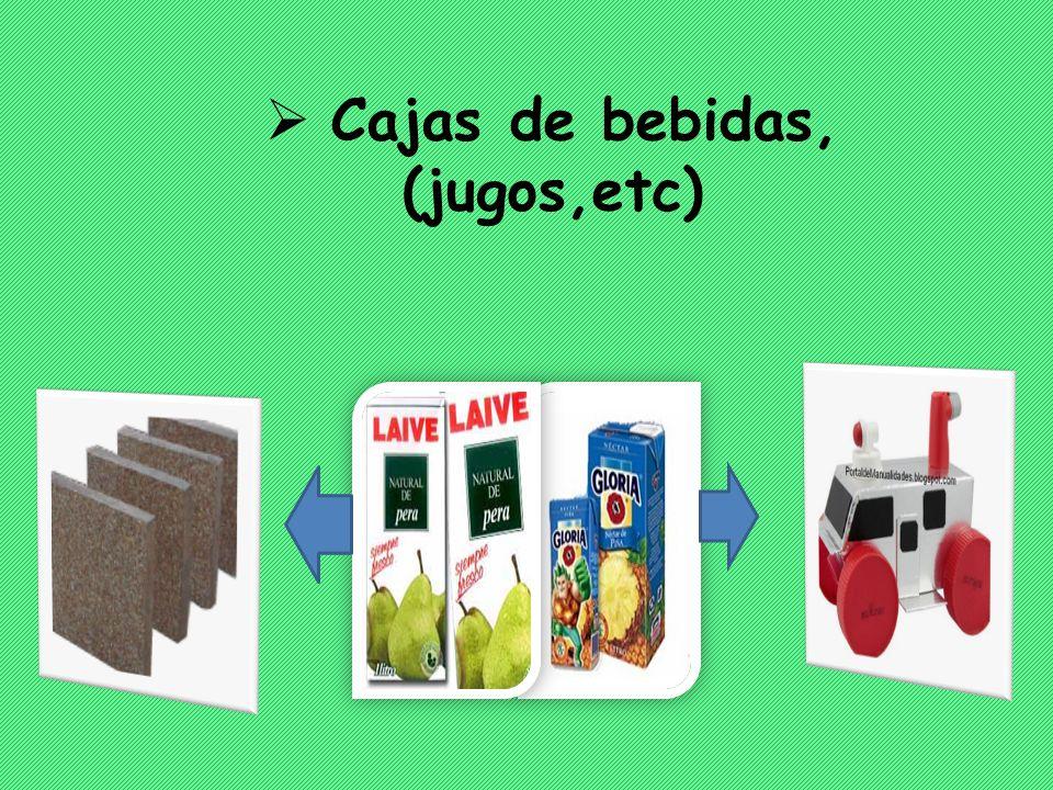 Cajas de bebidas, (jugos,etc)