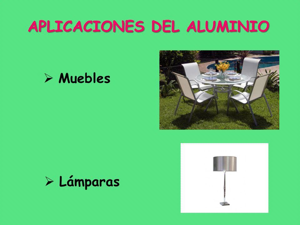 Muebles APLICACIONES DEL ALUMINIO Lámparas