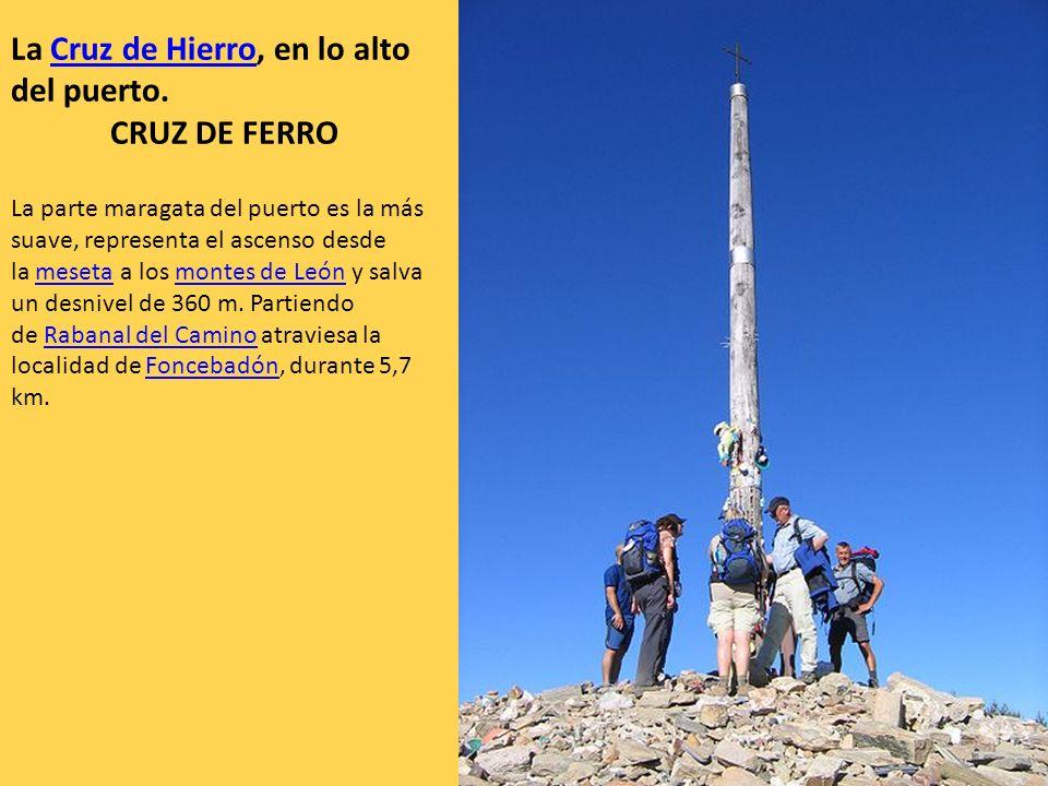La parte maragata del puerto es la más suave, representa el ascenso desde la meseta a los montes de León y salva un desnivel de 360 m. Partiendo de Ra