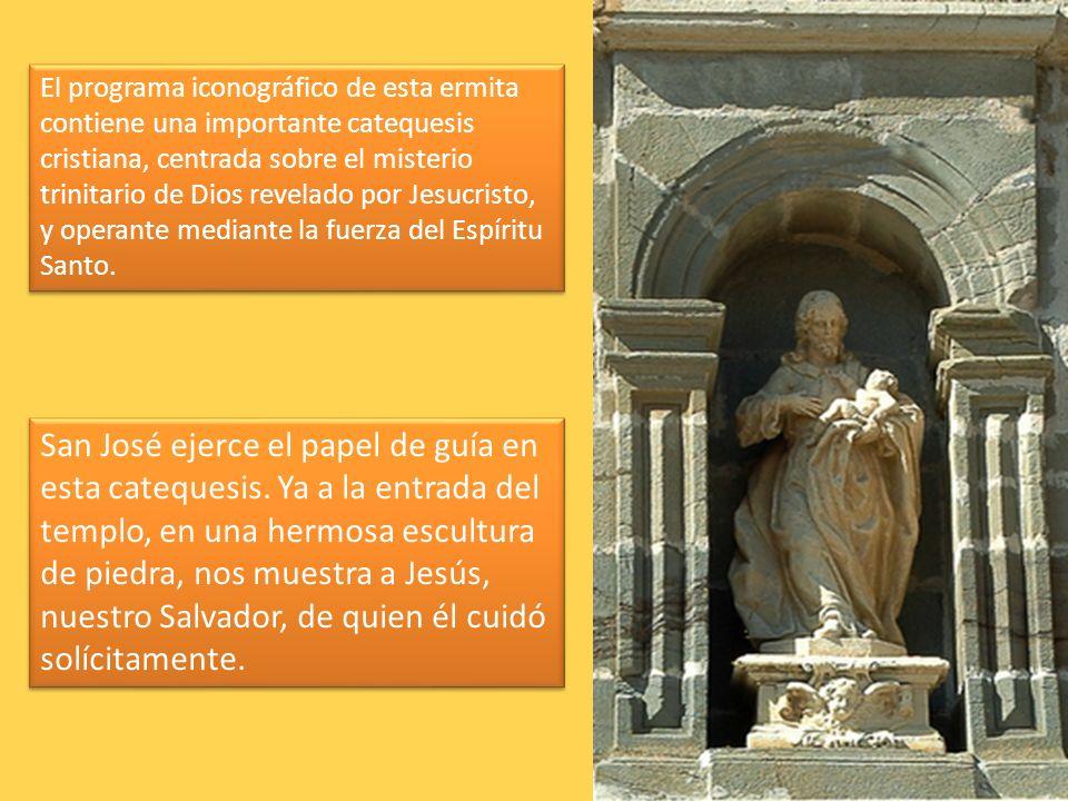 San José ejerce el papel de guía en esta catequesis. Ya a la entrada del templo, en una hermosa escultura de piedra, nos muestra a Jesús, nuestro Salv