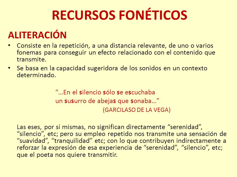 RECURSOS FONÉTICOS ONOMATOPEYA Se produce cuando con los sonidos del lenguaje se pretenden imitar sonidos reales.