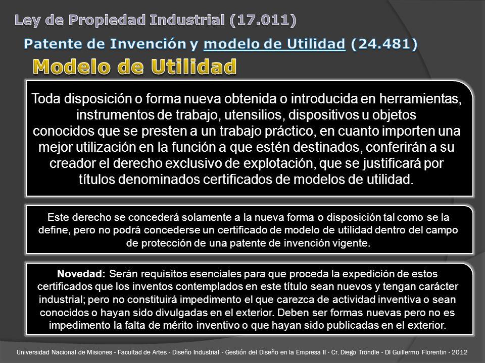 Universidad Nacional de Misiones - Facultad de Artes - Diseño Industrial - Gestión del Diseño en la Empresa II - Cr. Diego Tröndle - DI Guillermo Flor
