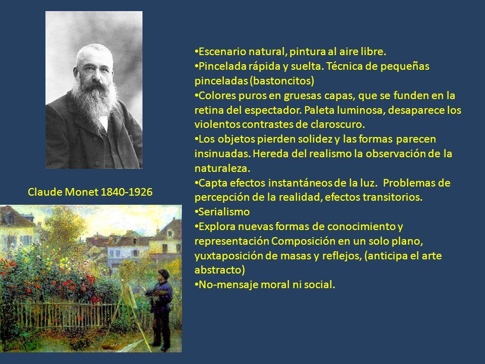 Paul Cézanne.1839-1906 Utiliza el color para construir formas sólidas (diferencias con el impresionismo) Construye una nueva realidad.