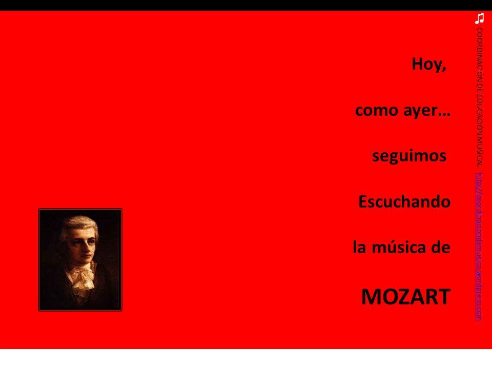 COORDINACIÓN DE EDUCACIÓN MUSICAL http://coordinaciondemusica.wordpress.comhttp://coordinaciondemusica.wordpress.com Hoy, como ayer… seguimos Escuchan